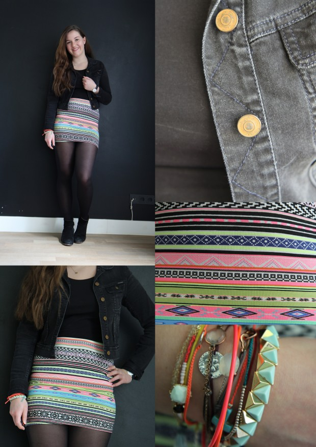 Outfit Aztec skirt