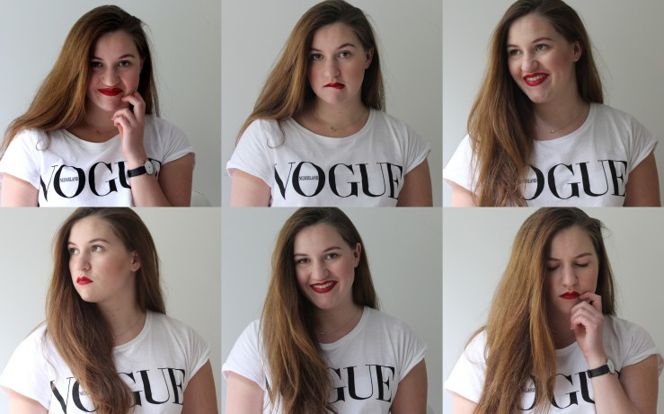 Red lips collage